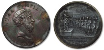 Ancient Coins - SILVER medal by J. Dassier, 1743, the  ROMAN REPUBLIC series: Numa Pompilius elected 2nd king of Rome