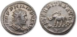 Ancient Coins - AR antoninianus, Philip I 'the Arab' - beautiful condition - Rome mint 247-249 A.D. - AETERNITAS AVG -