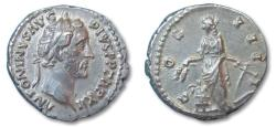 Ancient Coins - AR denarius Antoninus Pius, Rome 148-149 A.D.