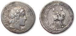 Ancient Coins - AR denarius Mn. Fonteius C.f.  -  Rome 85 B.C.