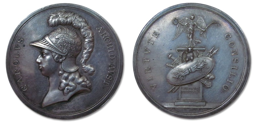 World Coins - AR medal 1799 by von Baldenbach: Austrian victory over the French at the battle of Stockach
