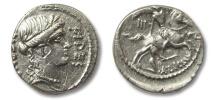 AR denarius A. Licinius Nerva, Rome 47 B.C.