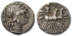 Ancient Coins - AR denarius P. Calpurnius, Rome 133 B.C.