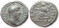 Ancient Coins - AR denarius Lucius Verus, Rome 168 A.D. -- TR P VIII IMP V COS III --