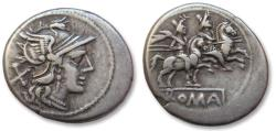 Ancient Coins - AR senarius, anonymous issue, Rome 179-170 B.C. - early denarius -