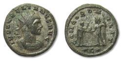 Ancient Coins - AE silvered antoniniaus Aurelian / Aurelianus, Cyzicus 272 A.D.
