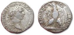 Ancient Coins - Large 24 mm AR tetradrachm Trajan / Trajanus. PHOENICIA, Tyre 103-109 A.D. - large eagle on club -