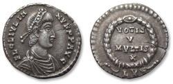 Ancient Coins - AR Siliqua, Julian II/ Julianus II. Lugdunum (Lyon) mint 360-363 A.D. - LVG in exergue, officially recorded metal detector find -