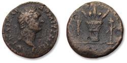 Ancient Coins - Aeolis, local bronze struck under Domitian / Domitianus, 81-96 A.D.