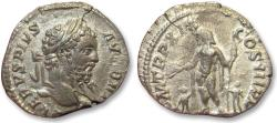 Ancient Coins - AR denarius Septimius / Septimus Severus, Rome 211 A.D. -- Jupiter & two children --