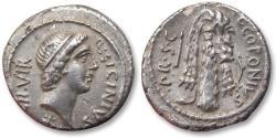 Ancient Coins - AR denarius Q. Sicinius and C. Coponius. Asia Minor 49 B.C.