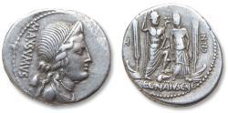 Ancient Coins - AR Denarius, C. Egnatius Cn.f. Cn.n. Maxsumus, Rome 75 B.C.