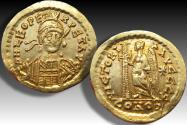 Ancient Coins - AV gold solidus Leo I, Constantinople AD 462-466 - VICTORIA AVCCC S -