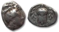 Ancient Coins - AR triobol Attica, Athens circa 353-294 B.C. -- 14mm coin from ancient Athens --