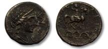Ancient Coins - AR denarius Mn. Aemilius Lepidus, Rome 114-113 B.C.