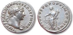 Ancient Coins - AR denarius Trajan / Trajanus, Rome mint 103-111 A.D. - Aequitas left -