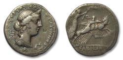 Ancient Coins - AR denarius C. Annius T.f. T.n. and L. Fabius L.f. Hispaniensis, North Italy/Spain 82-81 B.C.