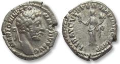 Ancient Coins - AR denarius Commodus, Rome 181-182 A.D. -- LIB AVG, Liberalitas left --