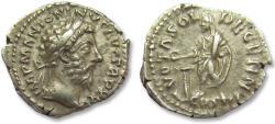 Ancient Coins - AR denarius Marcus Aurelius, Rome 170-171 A.D. -- VOTA SOL DECENN --