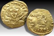 AV gold tremissis Tiberius III (Apsimar), Constantinople mint 698-705 A.D. - scarce/rare -