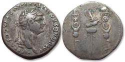 Ancient Coins - AR Cistophoric Tetradrachm, Domitian / Domitianus, Ephesus mint (or Rome for circulation in Asia) 82 A.D. - large silver coin -