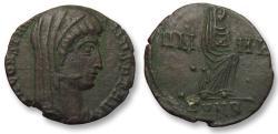 Ancient Coins - AE 13mm follis/nummus DIVUS Constantine I, Nicomedia 347-348 A.D. - officina B -