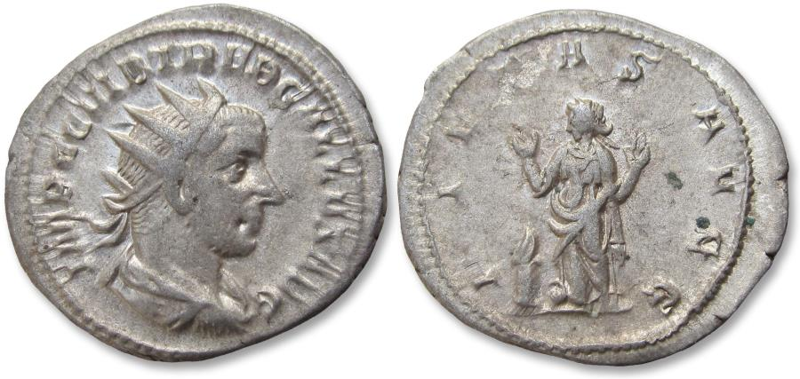 Ancient Coins - AR antoninianus Trebonianus Gallus. Rome mint 251-253 A.D. - PIETAS AVGG -