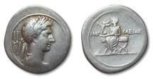 Ancient Coins - AR denarius Octavian / Octavianus, Brundisium or Rome 29-27 B.C.