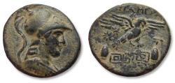 Ancient Coins - Phrygia, Apameia/Apamea. AE 22mm unit - high quality - circa 133-50 B.C. - Magistrates Phainippos and Drakon -