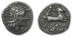 Ancient Coins - AR denarius M. Calidius, Q. Metellus, and Cn. Fulvius, Rome 117-116 B.C.