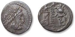 Ancient Coins - AR quinarius P. Vettius Sabinus, Rome 99 B.C. - control letter K in right field of reverse -