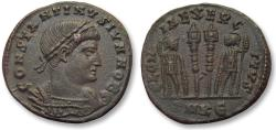 Ancient Coins - AE follis Constantine II as Caesar, Cyzikus mint 330-337 A.D. -- SMKЄ in exergue --