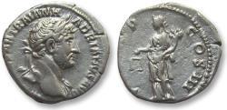 Ancient Coins - AR denarius Hadrian / Hadrianus, Rome 119 A.D. -- Aequitas standing left --
