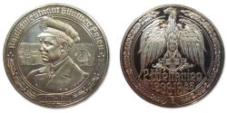 World Coins - 50mm Silver medal WW2: Kapitänleutnant Günther Prien, the Bull of Scapa Flow