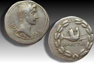 AR cistophoric tetradrachm Augustus, Ephesus, Ionia 25-20 B.C. -- capricorn --