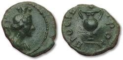 Ancient Coins - AE 15 (hemi-assarion) civic/city coinage, Moesia Inferior -- Nikopolis ad Istrum 2nd-3rd century -- rare