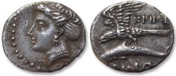 Ancient Coins - AR drachm Paphlagonia, Sinope. 330-300 B.C. - magistrate KPHΘE (Krith–)