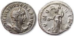 Ancient Coins - AR antoninianus, Herennia Etruscilla. Rome 250 A.D. - IVNO REGINA - sharply struck -