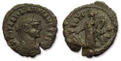 Ancient Coins - Billon 20mm Tetradrachm Diocletian, Egypt, Alexandria, dated RY 3 = AD 286-287 - Tyche standing left