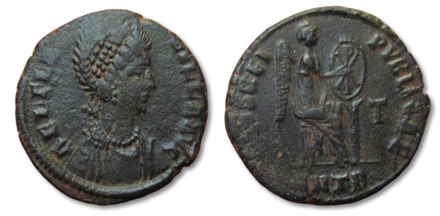 Ancient Coins - HS: AE22 Aelia Flacilla, Antioch 379-388 A.D.