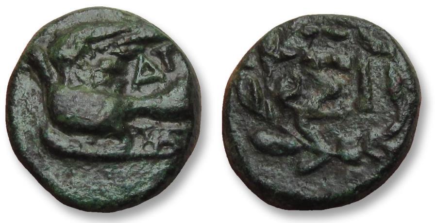 Ancient Coins - AE chalkous Sikyonia, Sikyon 196-146 B.C.