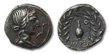 Ancient Coins - AR denarius Q. Caecilius Metellus Pius, Rome 81 B.C.