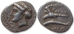 Ancient Coins - AR drachm Paphlagonia, Sinope. 330-300 B.C. - magistrate ΘEOTI (Theoti–)