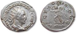 Ancient Coins - AR antoninianus Trajan Decius,  Rome mint 249-251 A.D. - VICTORIA AVG, Victory advancing left -