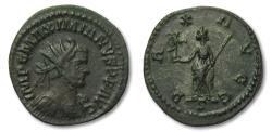 Ancient Coins - AE silvered antoninianus Maximianus, Lugdunum / Lyon mint 289-290 A.D. - PAX AVGG -