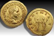 AV gold aureus Trajan Decius, Rome mint 249-251 A.D. - PANNONIAE reverse -