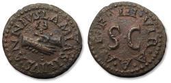 Ancient Coins - AE Quadrans struck under Augustus, circa 9 B.C. - moneyers Lamia, P. Silius and C. Annius -