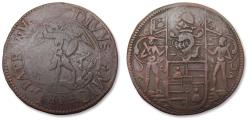 World Coins - Southern Netherlands AE jeton Brussels mint 1667: Peter Justus van Armstorff treasurer of Brussels