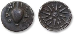 Ancient Coins - Locris, Opuntii. 12mm AR obol - scarce little coin, amphore with grapes - circa 338-300 B.C. -