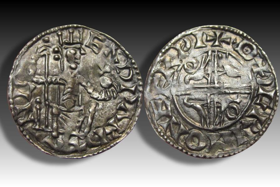 World Coins - Sovereign eagles type AR penny Edward the Confessor - YORK mint 1056-1059 AD - moneyer OÐGRIM